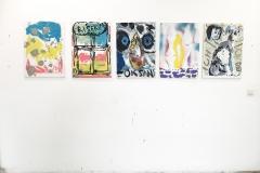Bernhard Heller, OKSAN, 2019, 5-teilig, Akryl/Öl auf Leinwand, je 50 x 70 cm