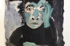 Lusine Breitscheidel — Selbst, 2018, Acryl auf Papier, 42 x 31 cm