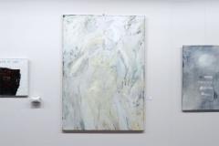 Ausstellung »Weiß« — v.l.n.r.: Waltraud Flickinger, Hansjürgen Vogel, Kerstin Müller