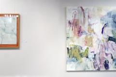 Ausstellung »Weiß« — v.l.n.r.: Bettina Elsässer-Max, Charlotte Panowsky