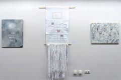 Ausstellung »Weiß« — v.l.n.r.: Kerstin Müller, Gabriele Schröder, Waltraud Flickinger